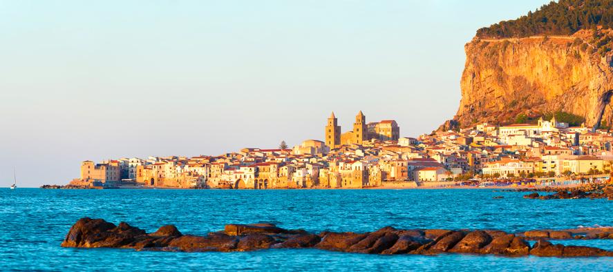 Panorama view of Cefalu, Sicily