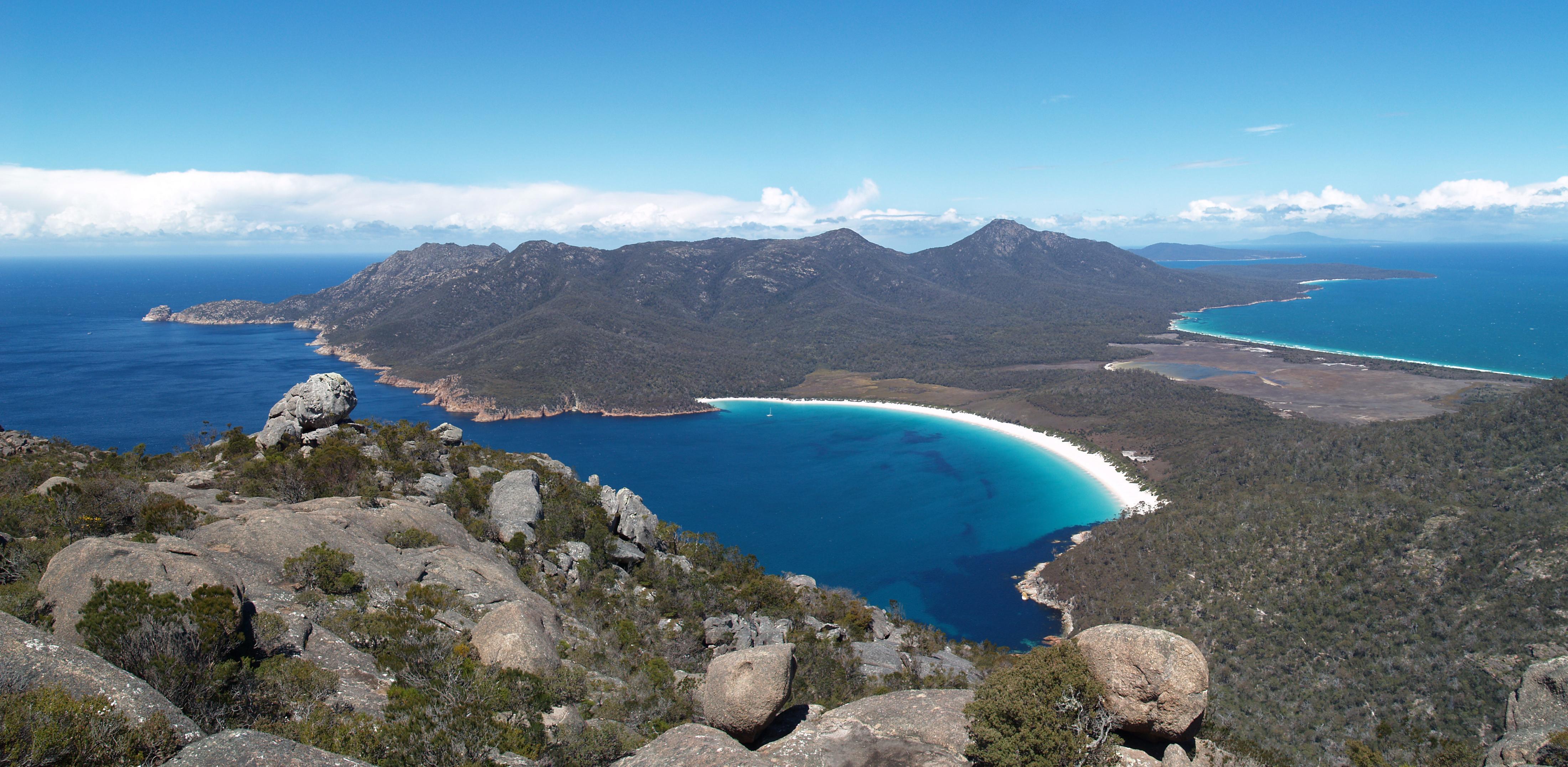 Wineglass Bay, Freycinet Peninsula, south eastern Tasmania. Olympus E500 DSLR.
