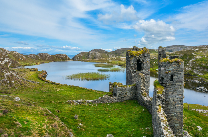 Ruins of Three Castle Head, County Cork, Ireland
