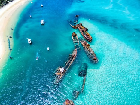 Tangalooma shipwrecks on Moreton Island
