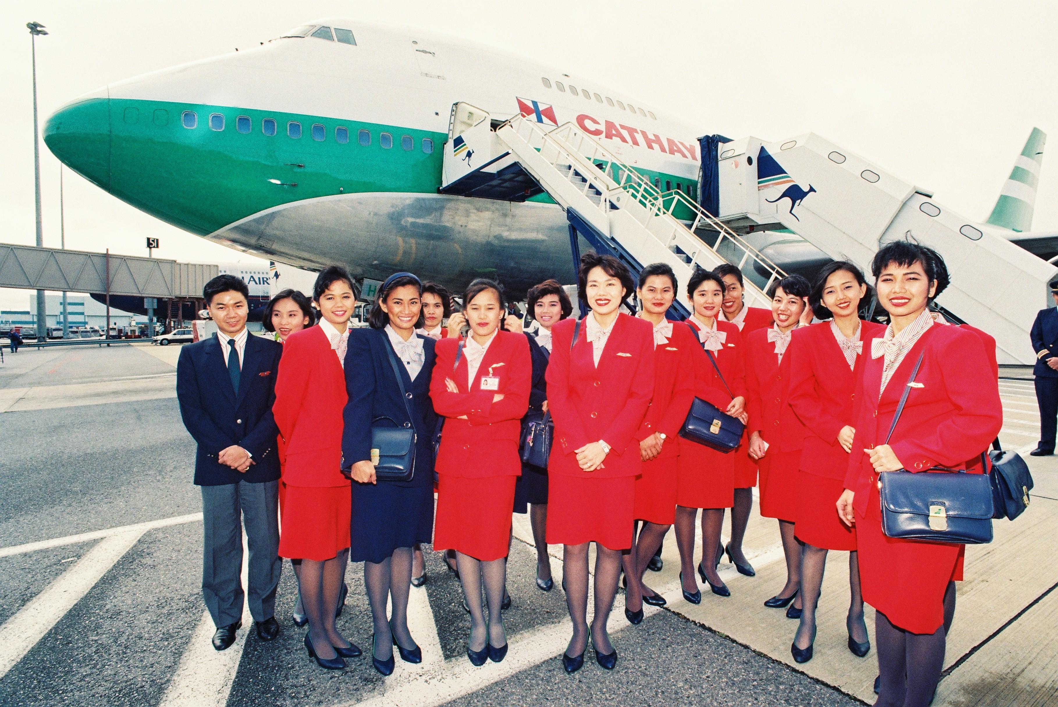 Cabin crew inaugural flights[2][1]
