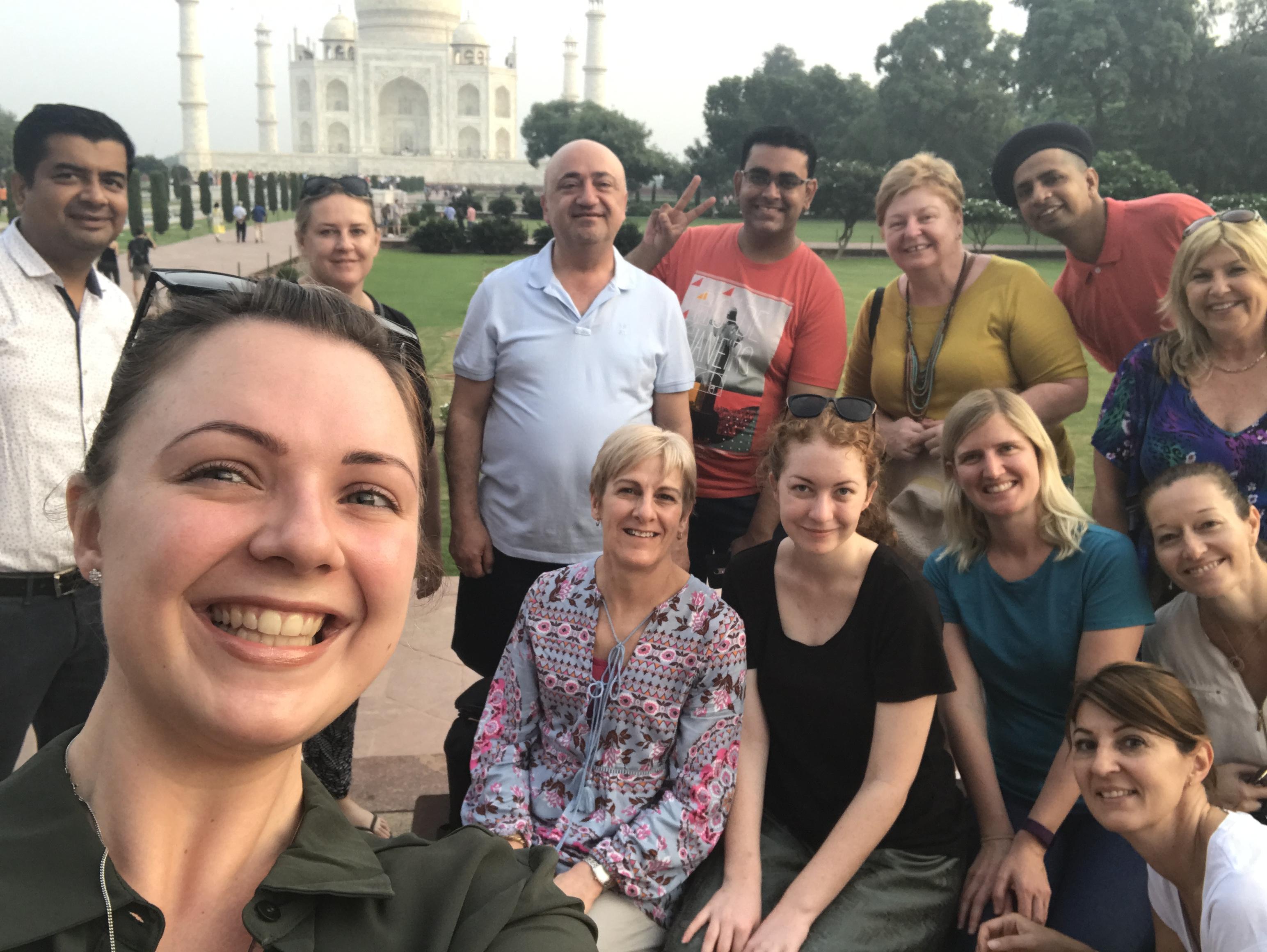 Group Photo - Taj Selfie