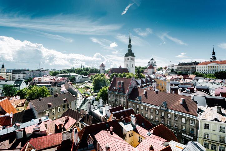 View over Old Town of Tallinn, Estonia.