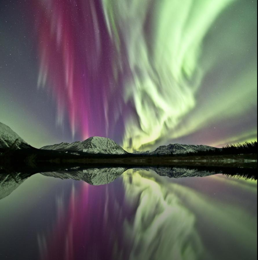Aurora borealis in Yukon