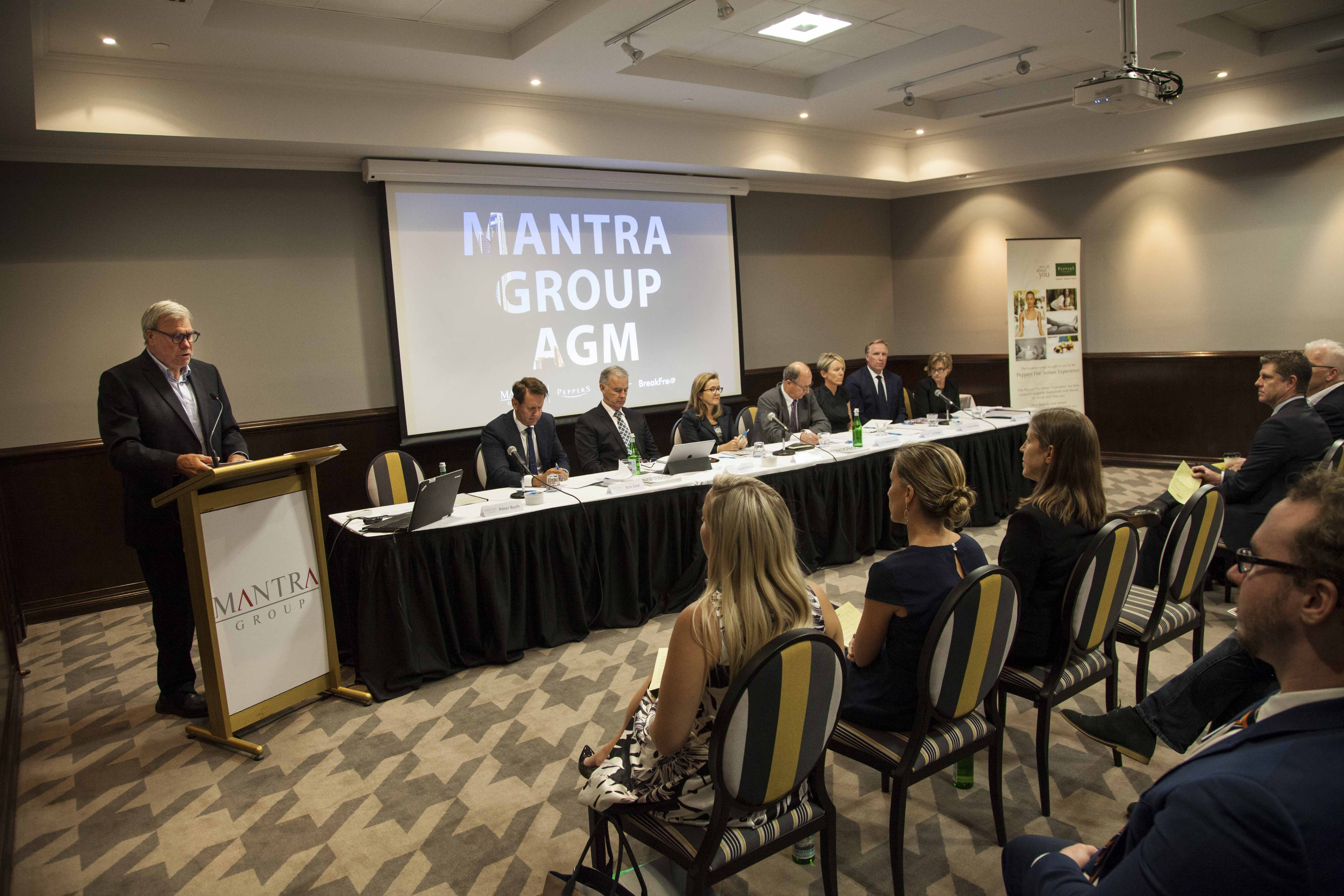 Mantra Group AGM - Peter Bush