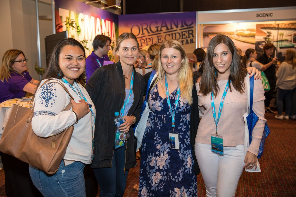 Helloworld Travel agents enjoying themselves at the Frontliners Forum held at Wrest Point