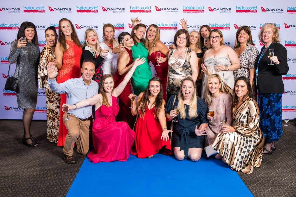 Helloworld Travel agents enjoying themselves at the Gala Awards Dinner