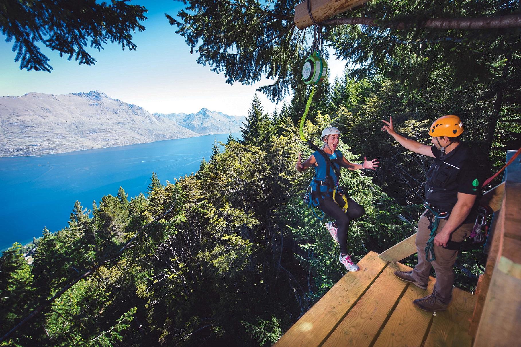 Drop from the treetops with Ziptrek Ecotours' new Kereru Tour