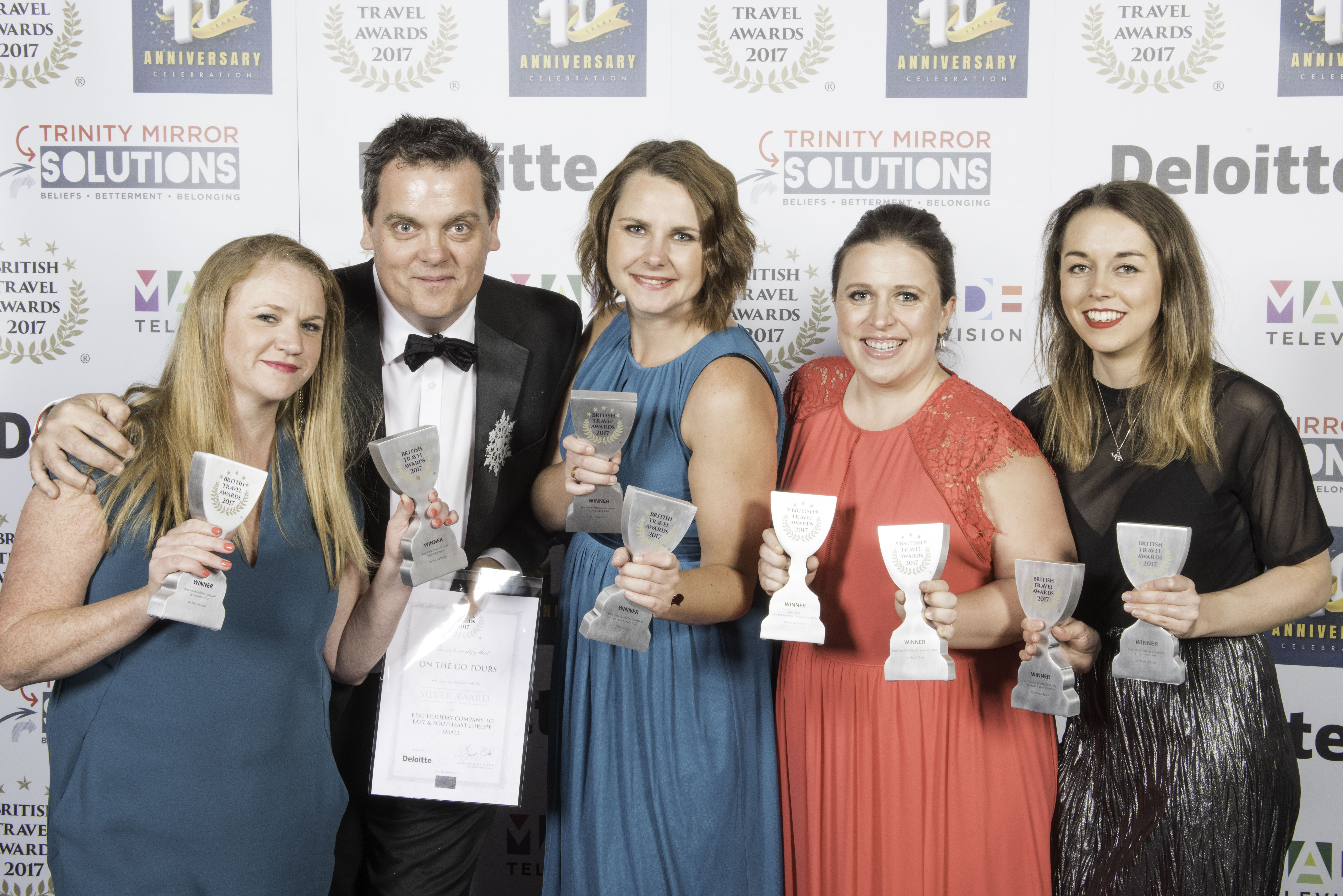On the Go Tours British Travel Awards 2017. Photo by Steve Dunlop +447762084057 steve@stevedunlop.com