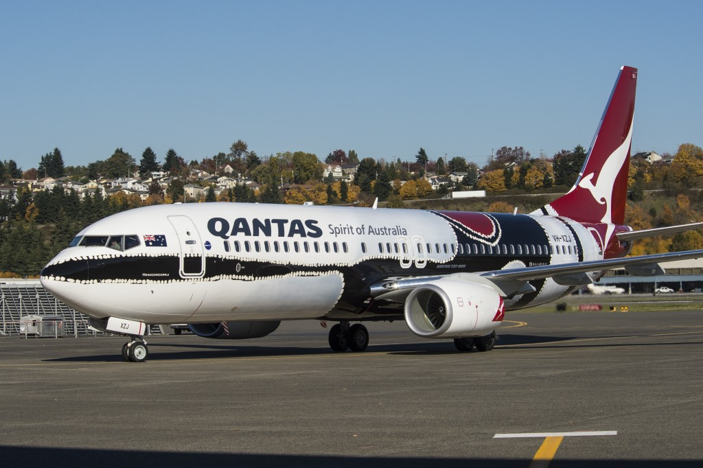 Qantas YS067 4669 Special Paint Livery Takeoff and Taxi