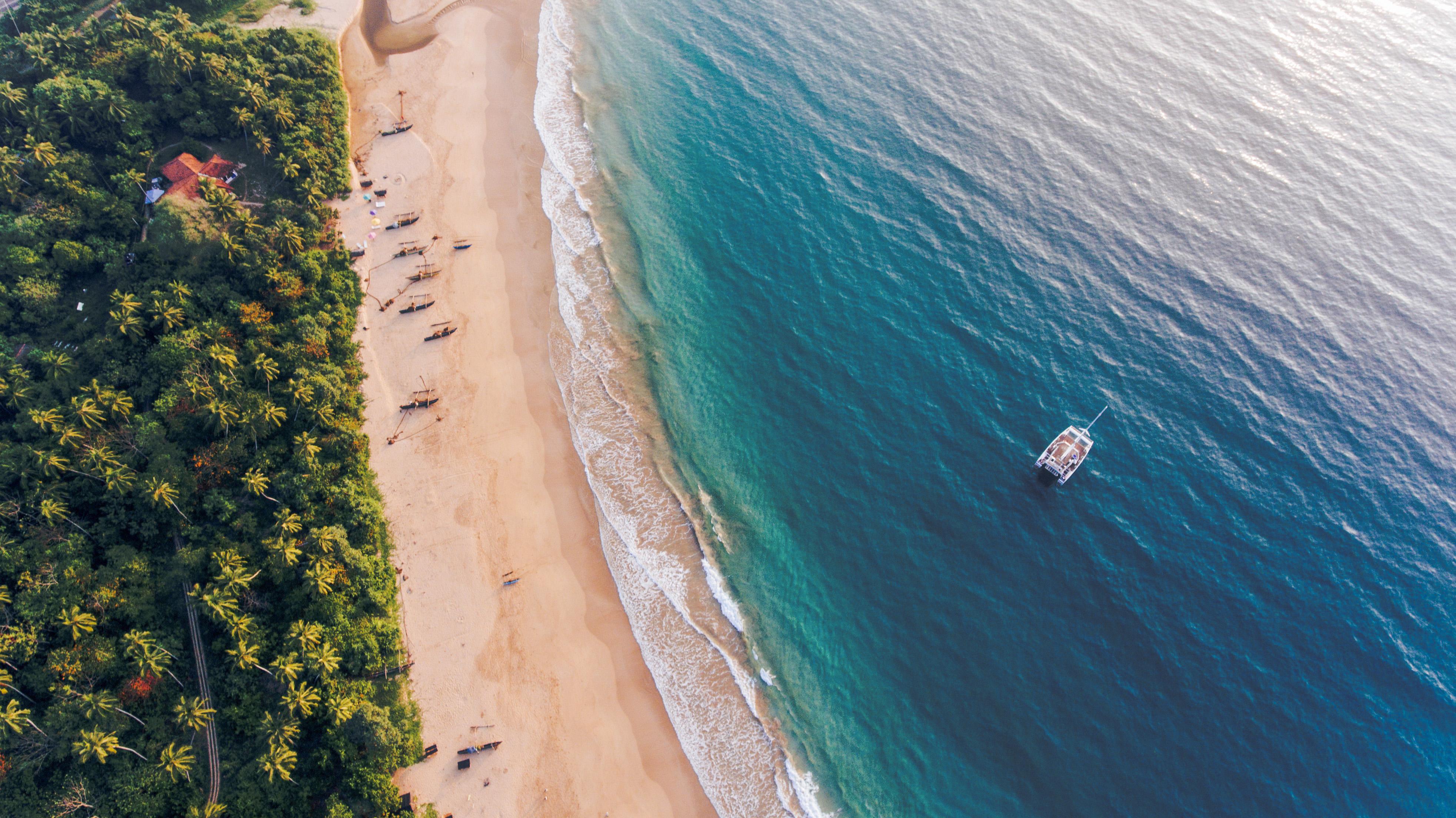 Sri Lanka Sailboat Drone Shot - Supplier Photos Residential Cruise SOUTH 43 2017 Lg RGB