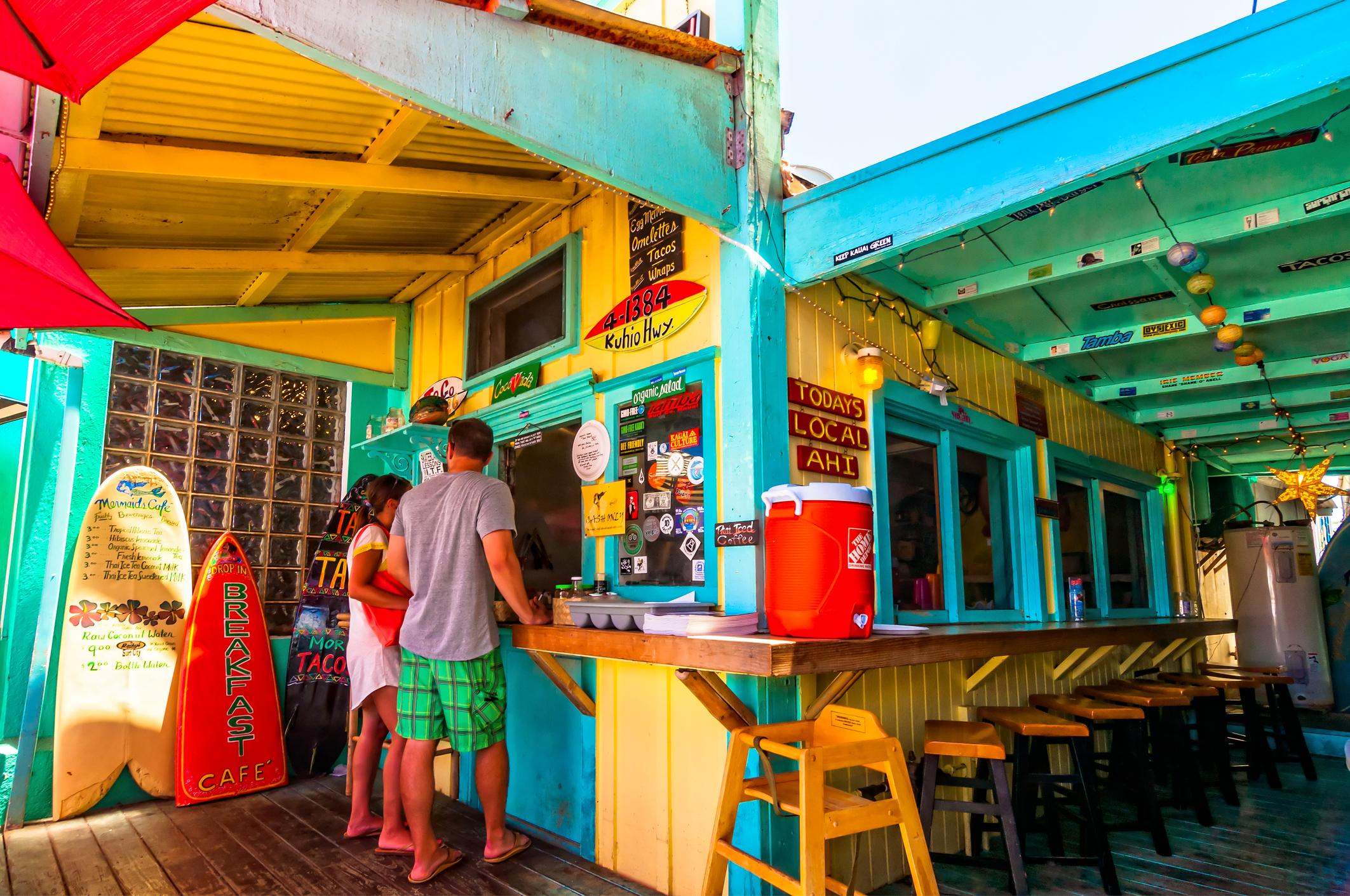 picturesque Mermaids Cafe in Kapaa, Kauai
