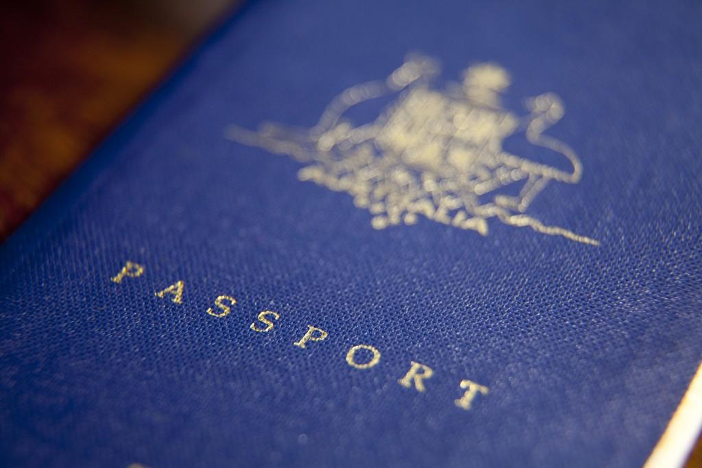 Front cover of an Australian passport.