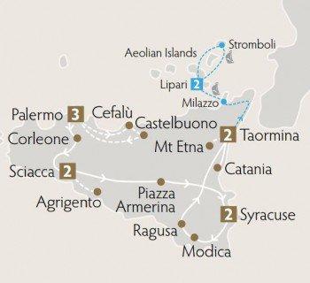 Sicily Bella Tour Map