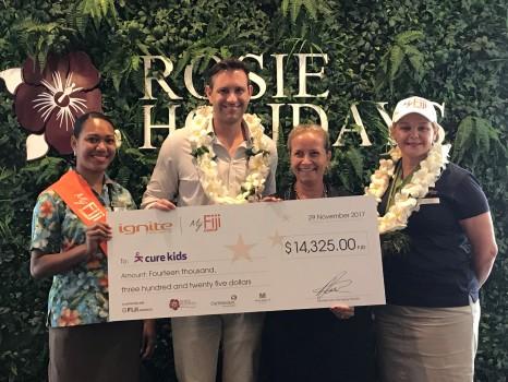 Cure Kids Fiji Cheque Presentation