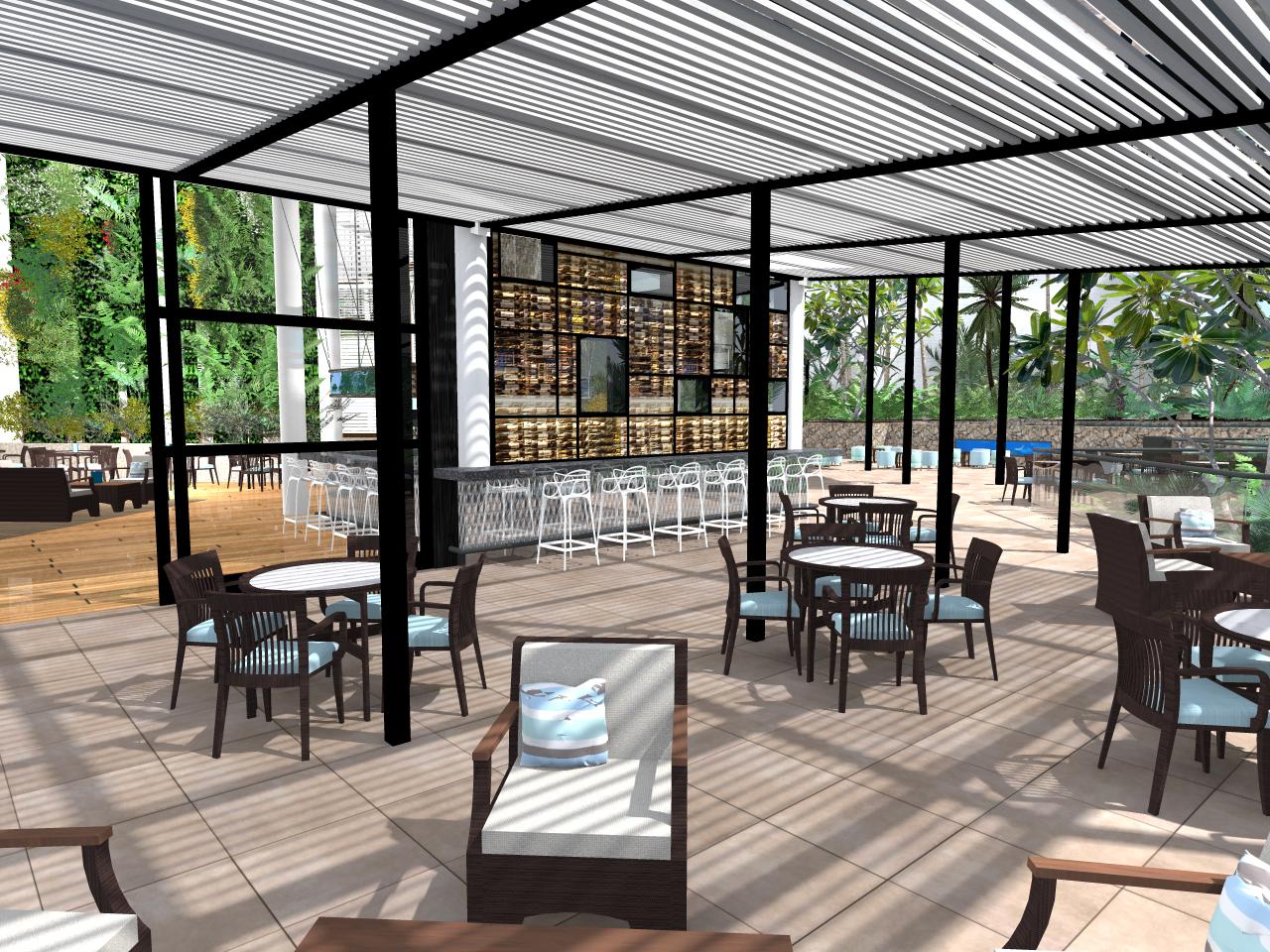 Daydream Island CGI Bar Terrace
