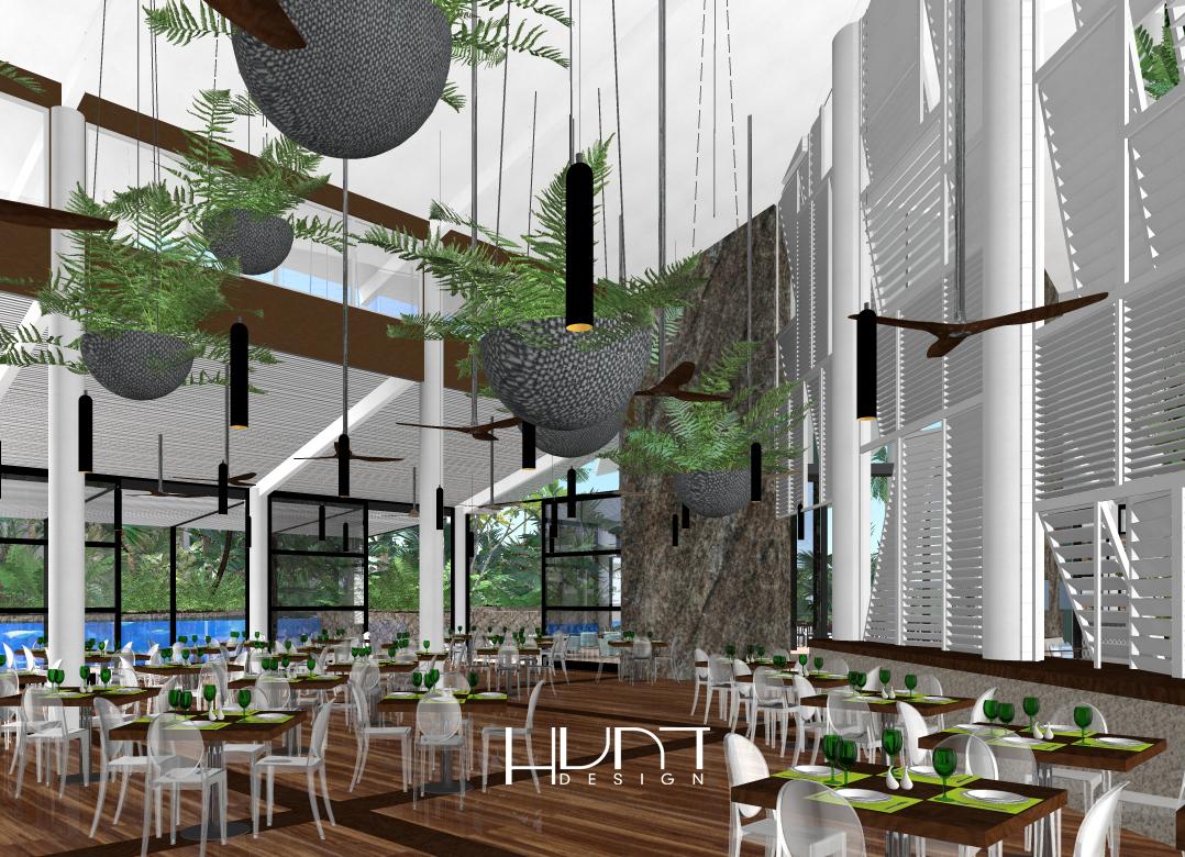 Daydream Island CGI Central Facilities Restaurant