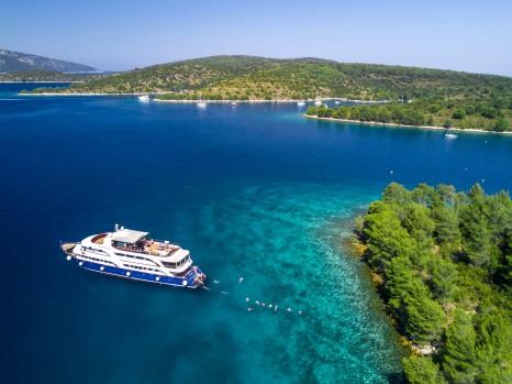 Intrepid Travel-Peregrine Adventures-Croatia-cruising-drone-shot-011