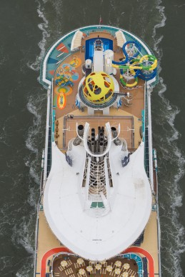Royal Caribbean International's Independence of the Seas sails into Southampton, UK, after her revitalisation. She will homeport in Southampton for the summer season.