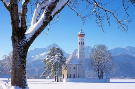 St. Coloman church in Alps