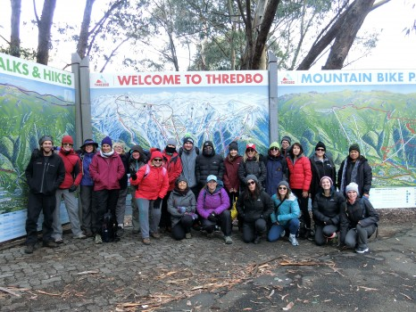 World Expeditions staff prepare to board the Thredbo chairlift