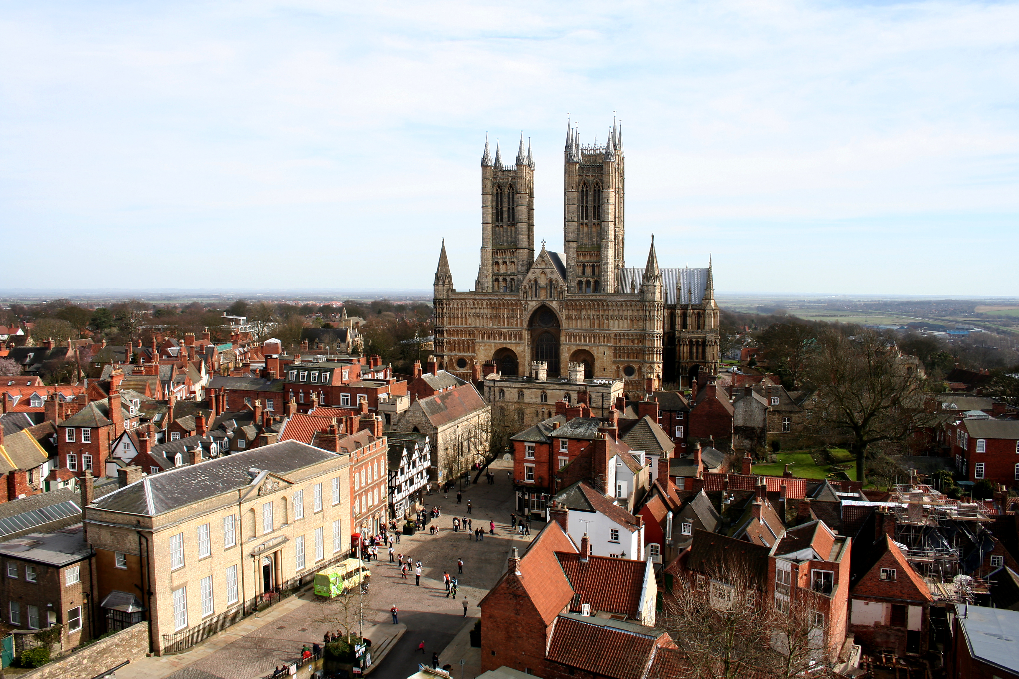 Lincoln Cathedral and Castle Square, Lincolnshire, England