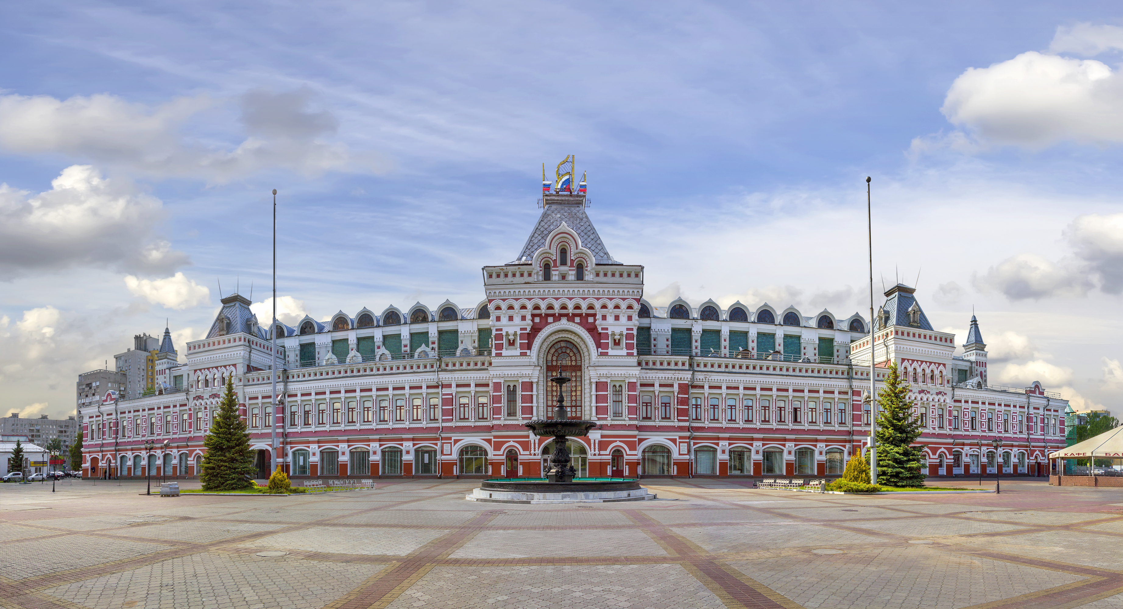 The building of the Nizhny Novgorod Fair. Nizhny Novgorod, Russi