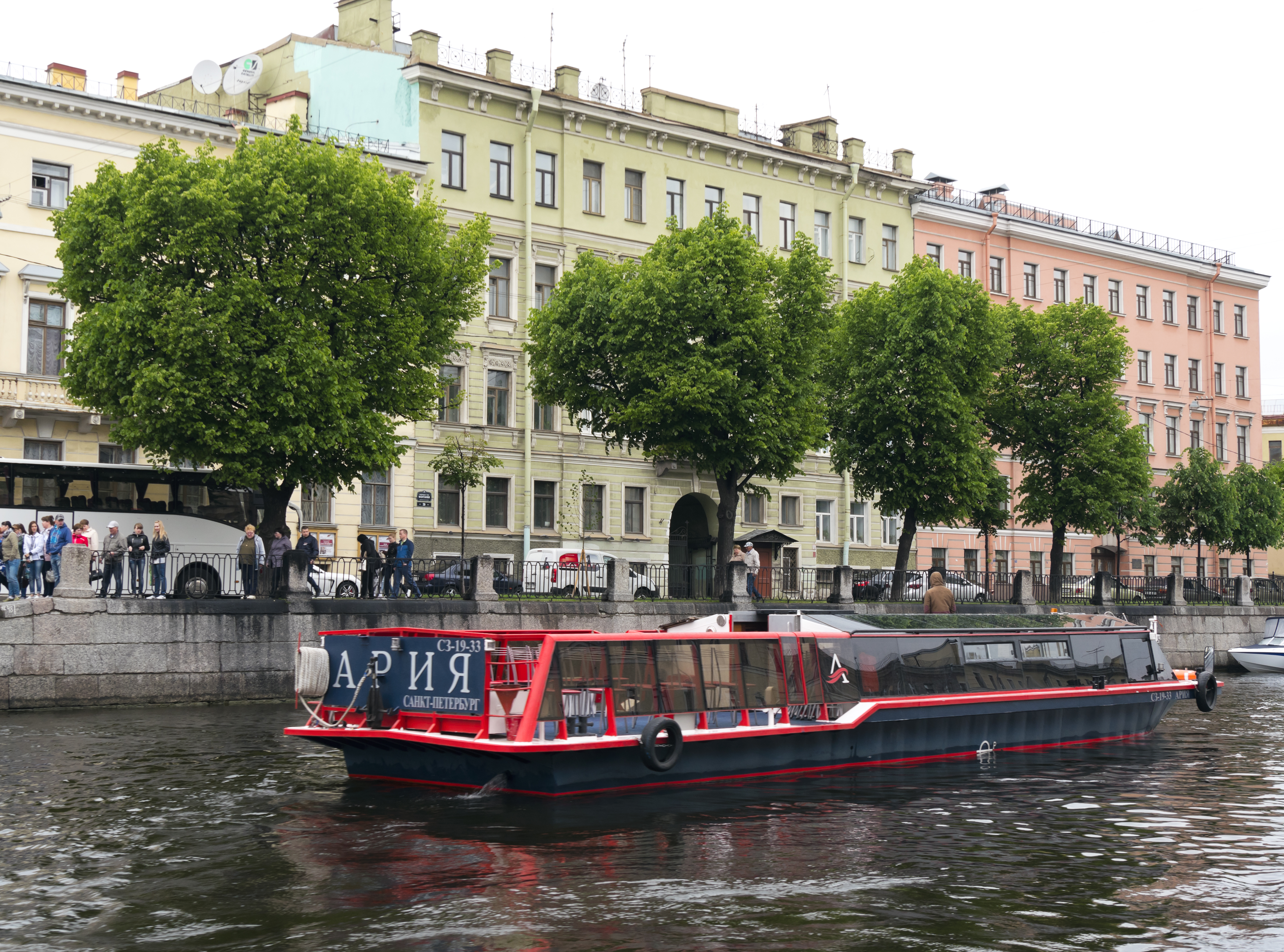 Tourboat in St Petersburg