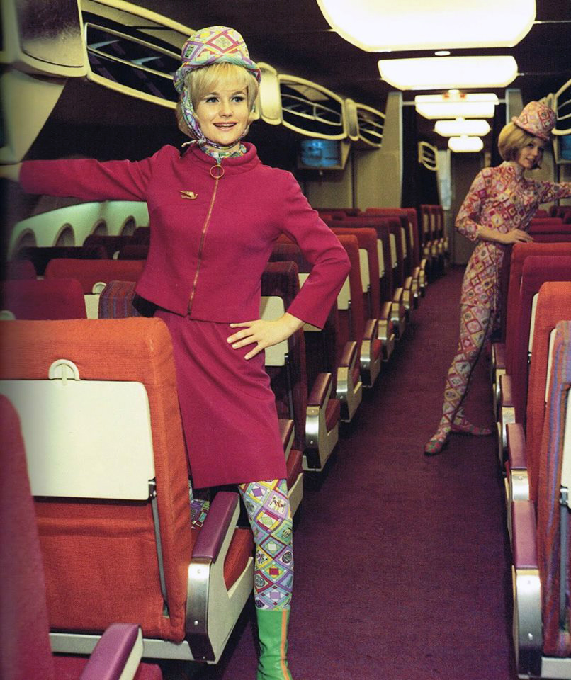 Braniff hostesses in the mock-up for the Boeing supersonic transport. Source: AirlineRatings.com