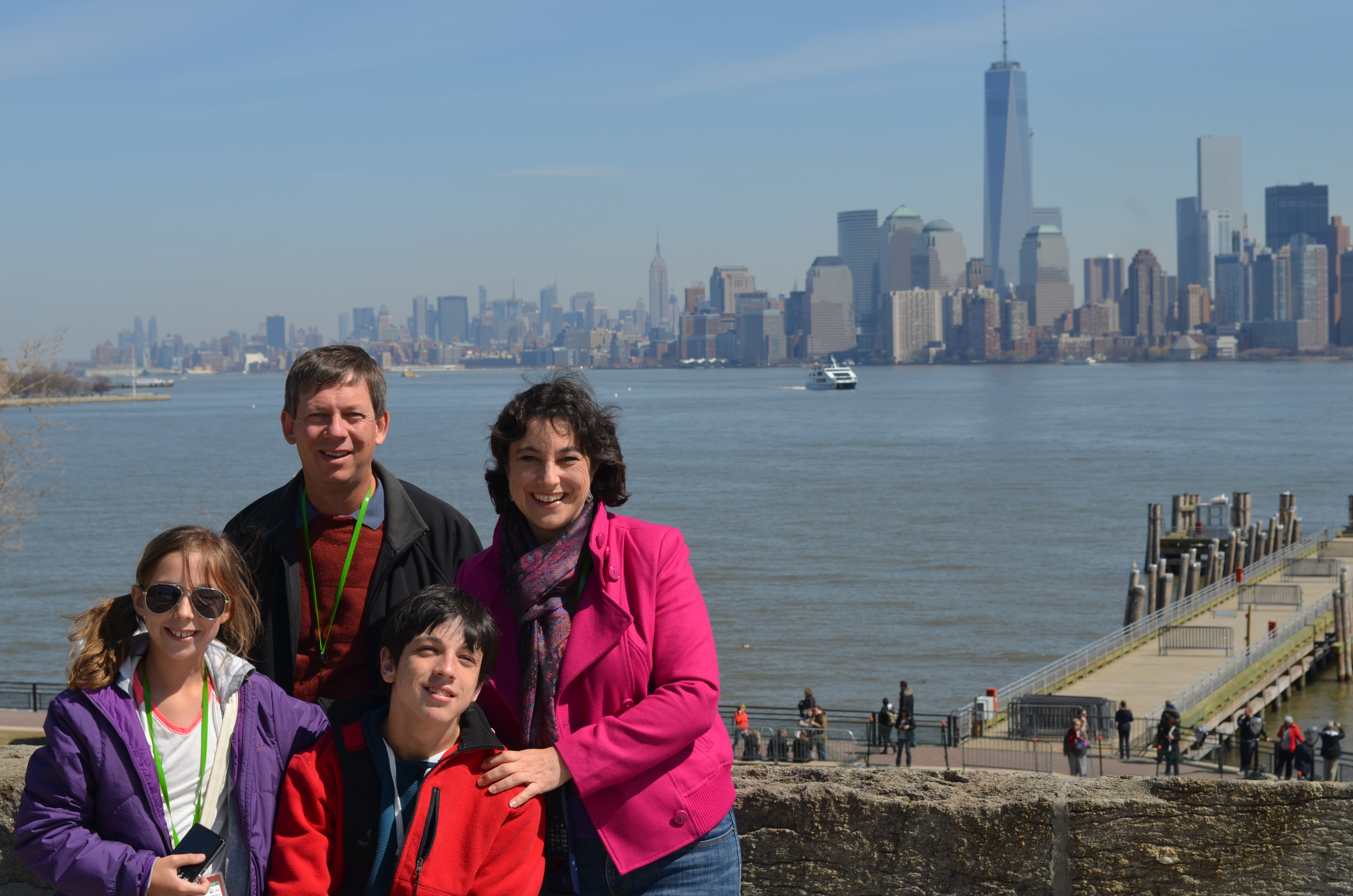 The Jones family on holiday in New York