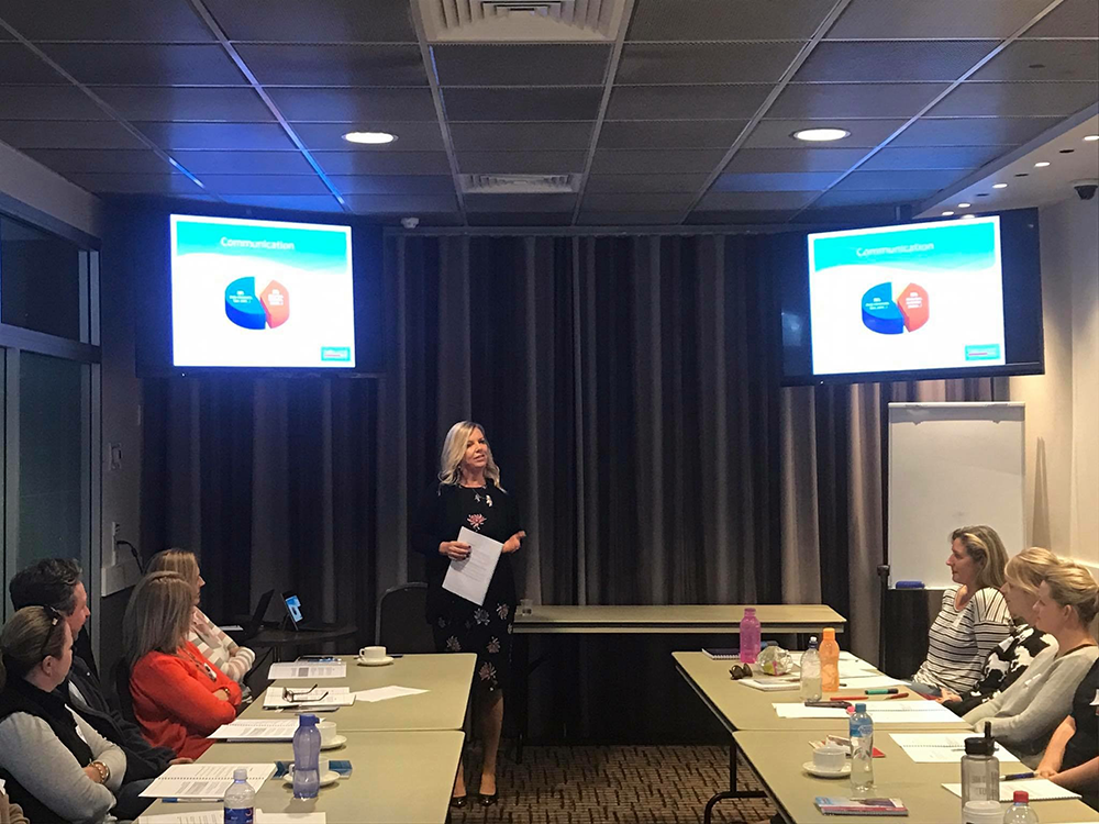 National Training Manager Kelley Matson taking agents through the specifically designed training courses for HLO agents.