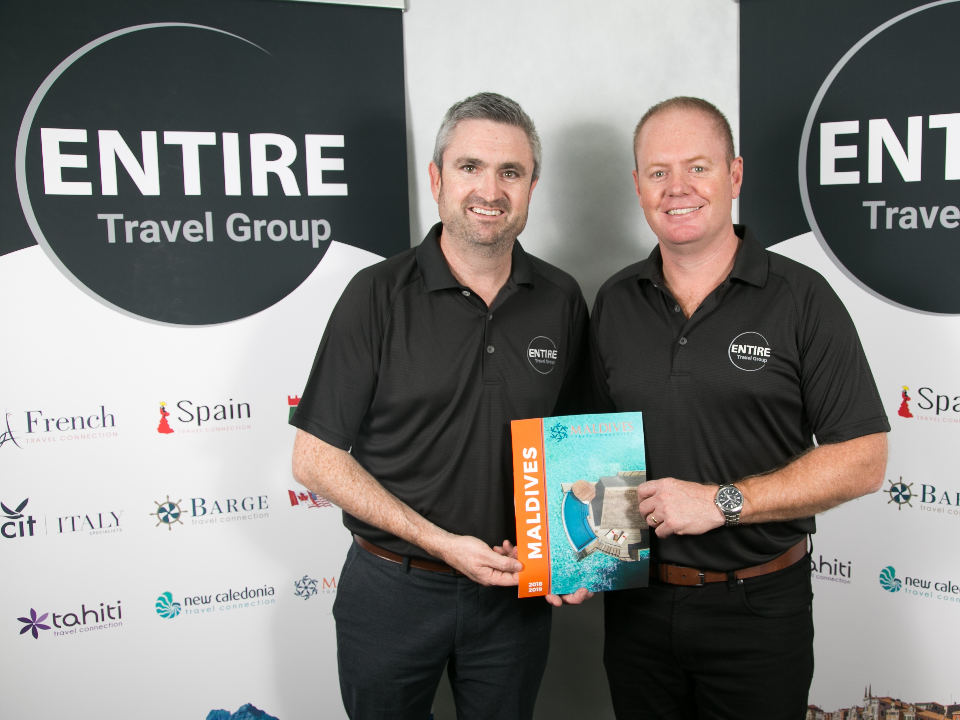 (L-R) Entire Travel Group Sales & Marketing Director Greg McCallum and CEO Brad McDonnell