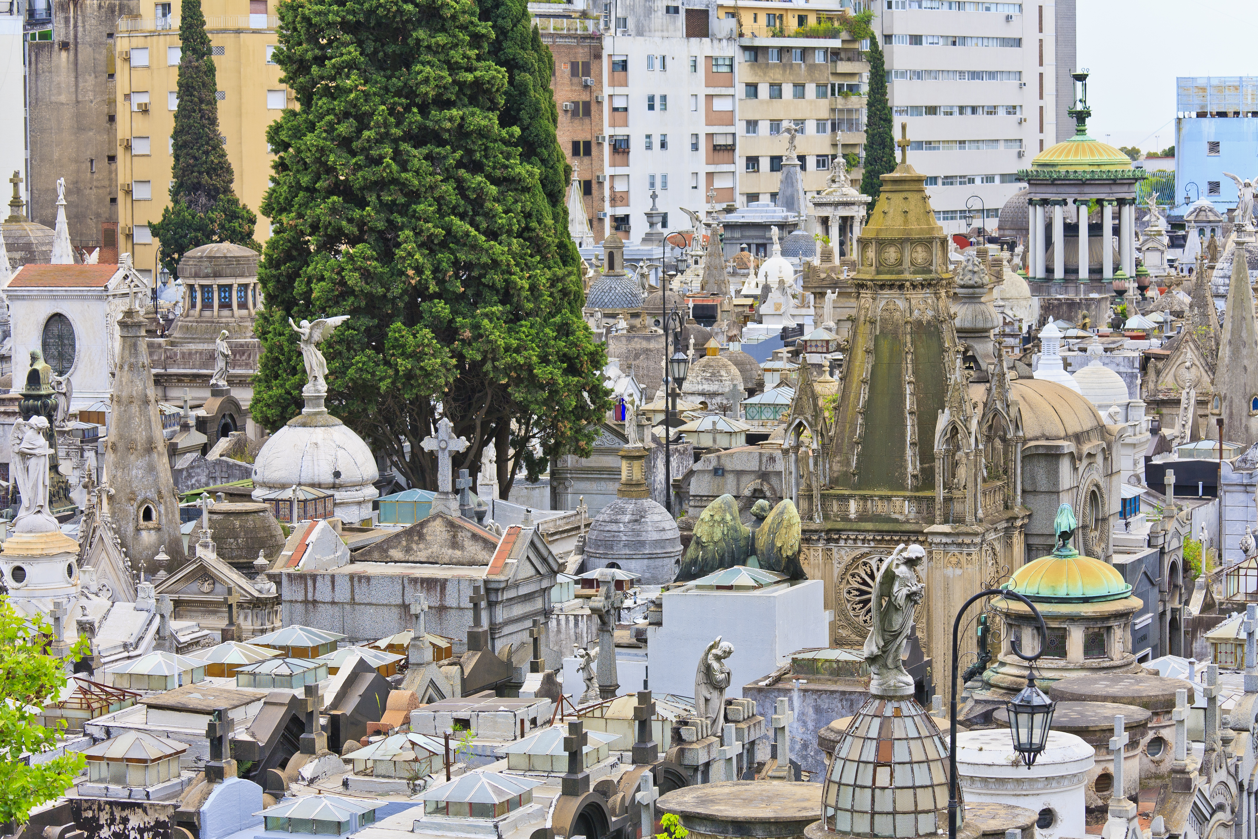 Recoleta Cemetery from above