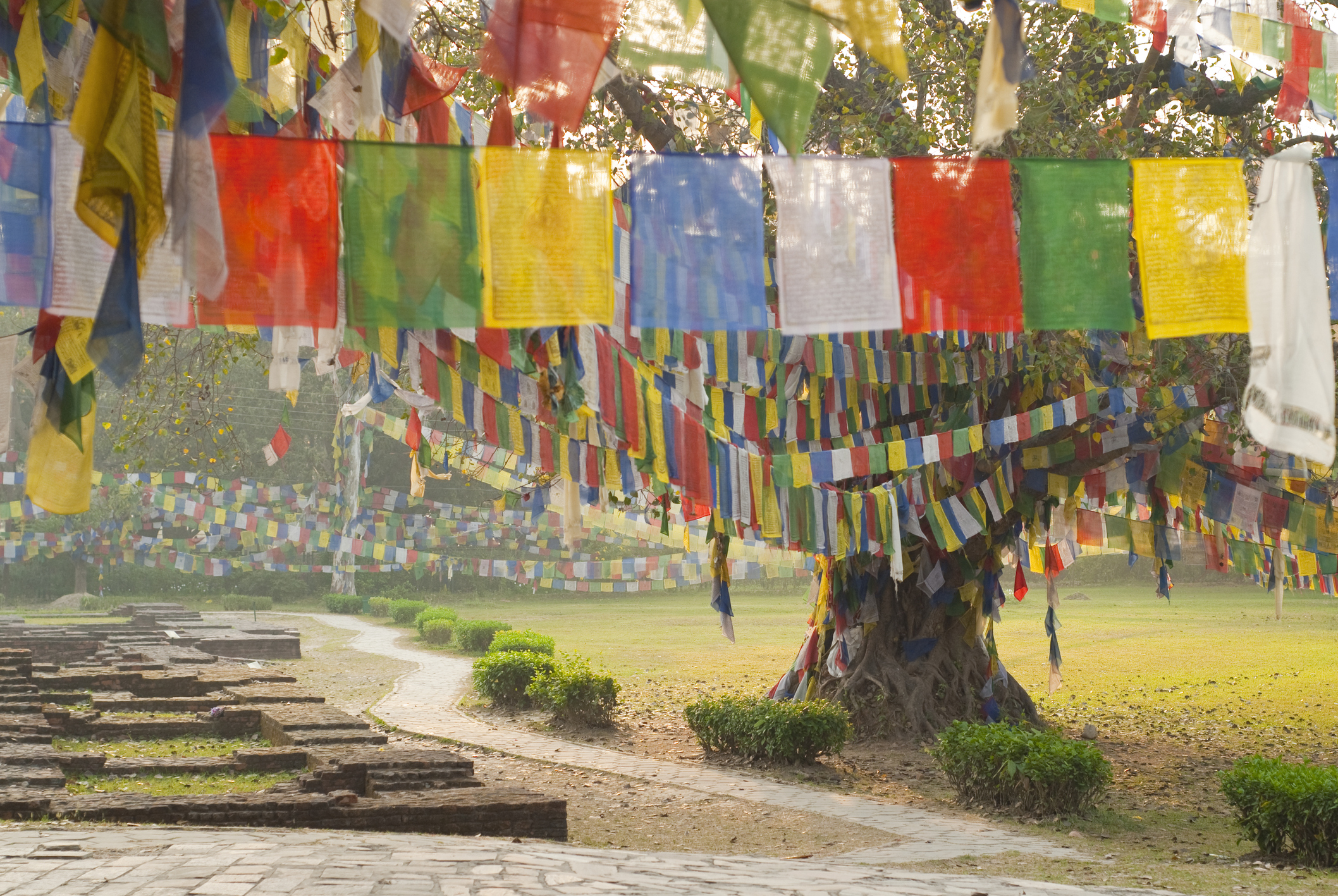Lumbini prayer flags 1