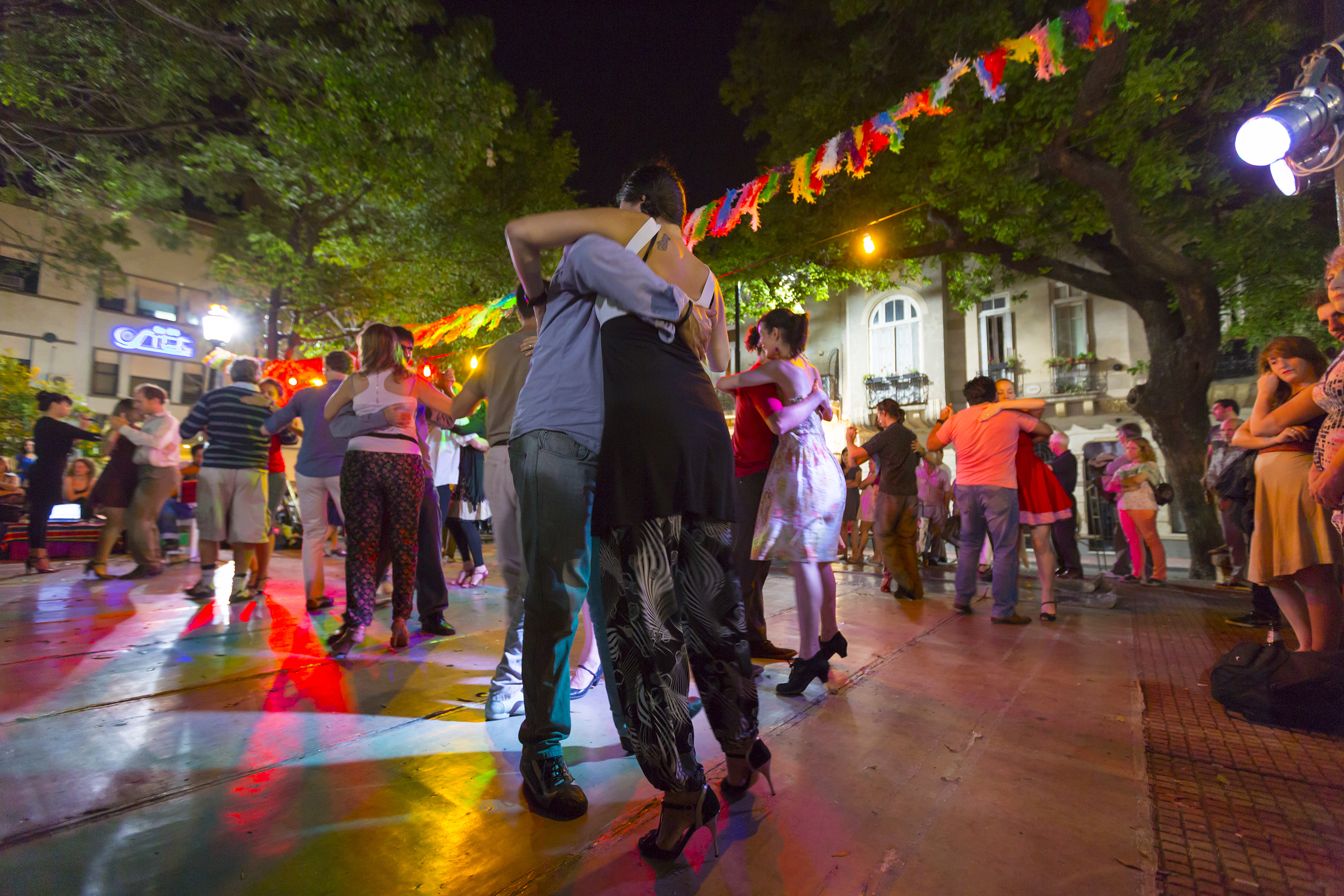 People dancing Tango in Buenos Aires, Argentina