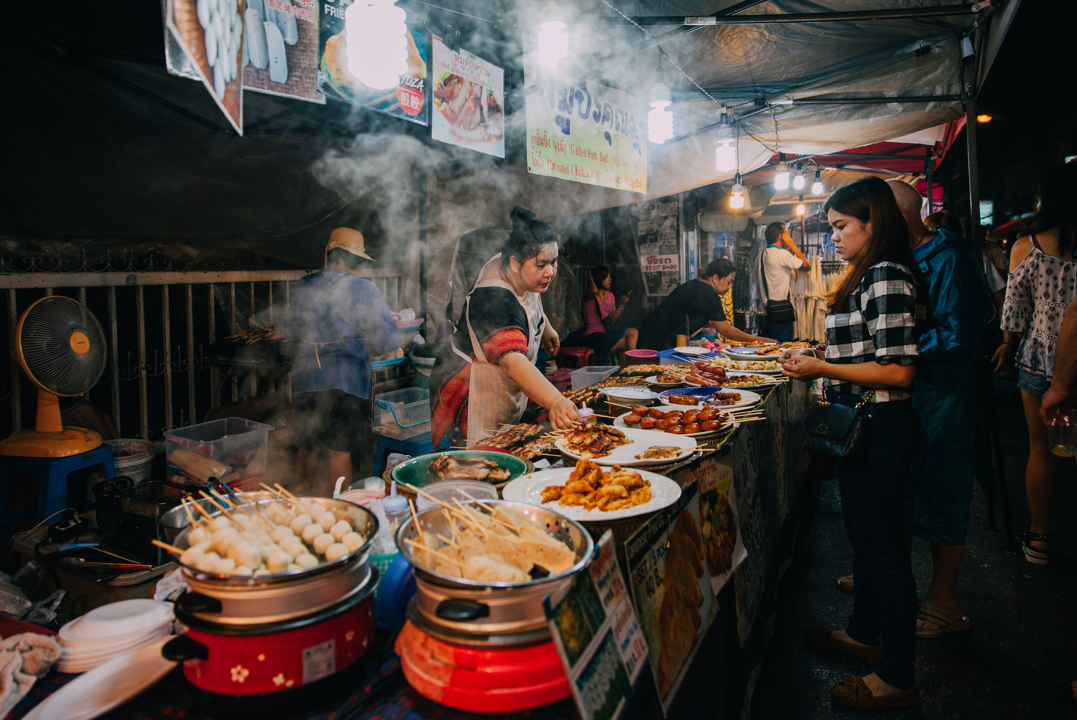 Saturday night market in Chiang Mai, Thailand