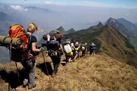 Trekking in the western Ghat region-small
