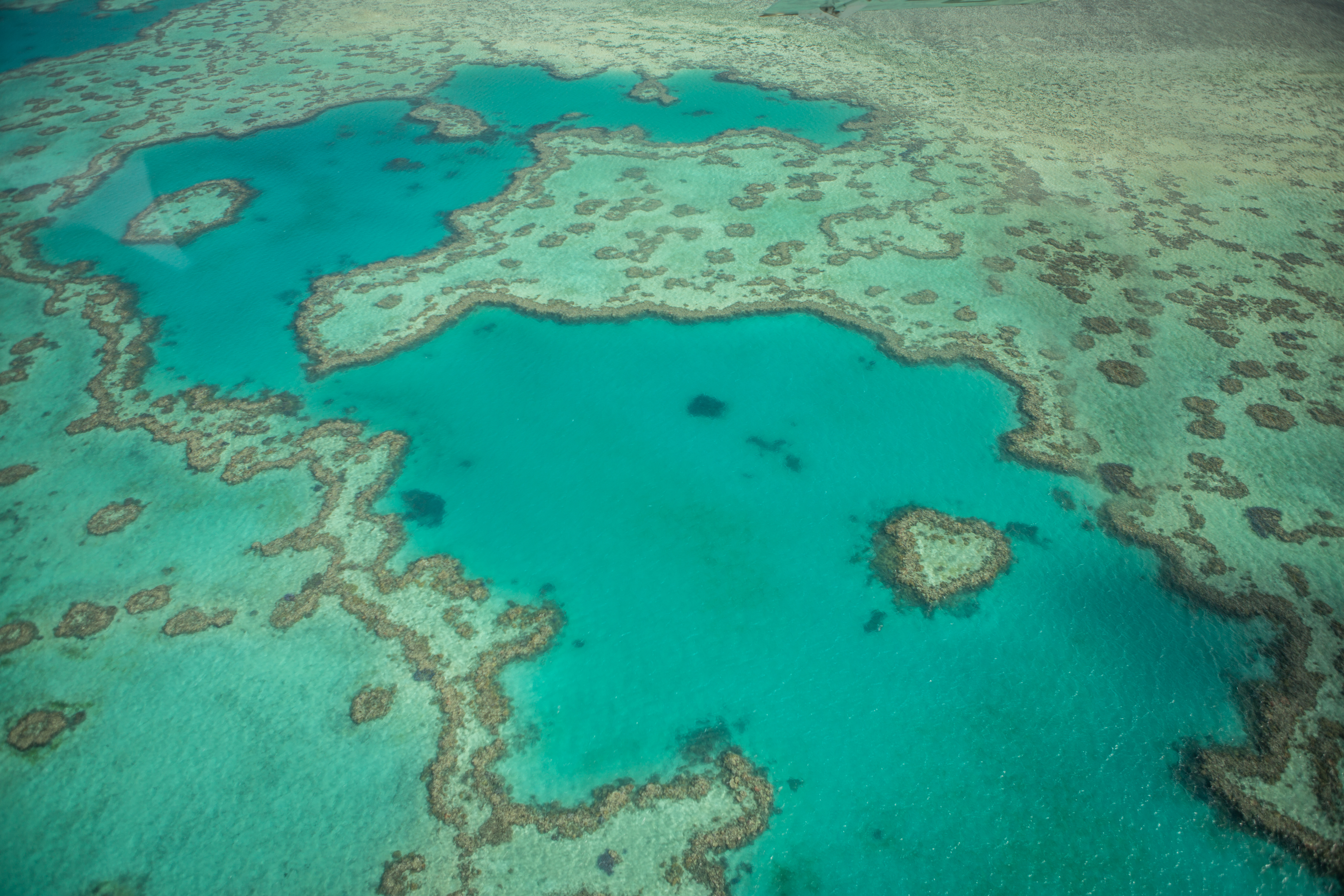 Aerial view of the Heart reef