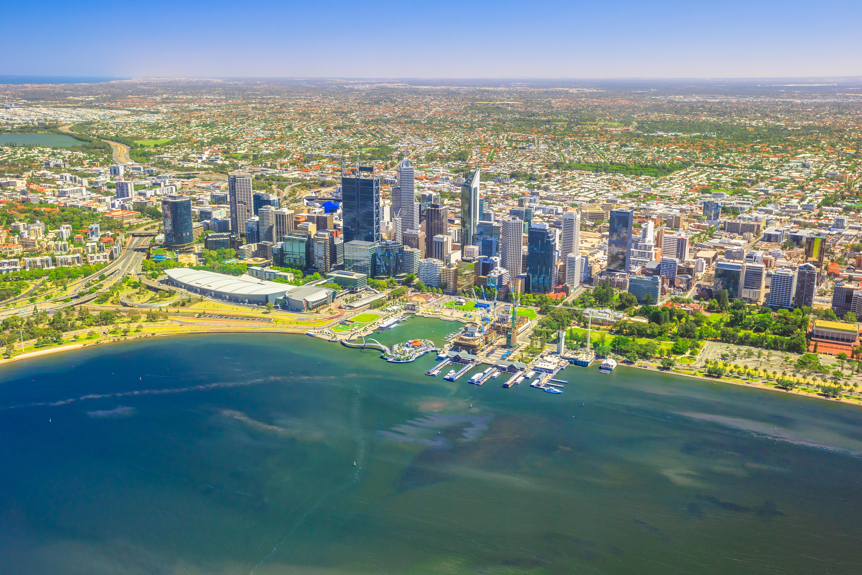 Perth Skyline aerial