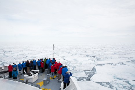 Ice cruising, Svalbard, Arctic, ship cruising through the ice, 7715, Denis Elterman
