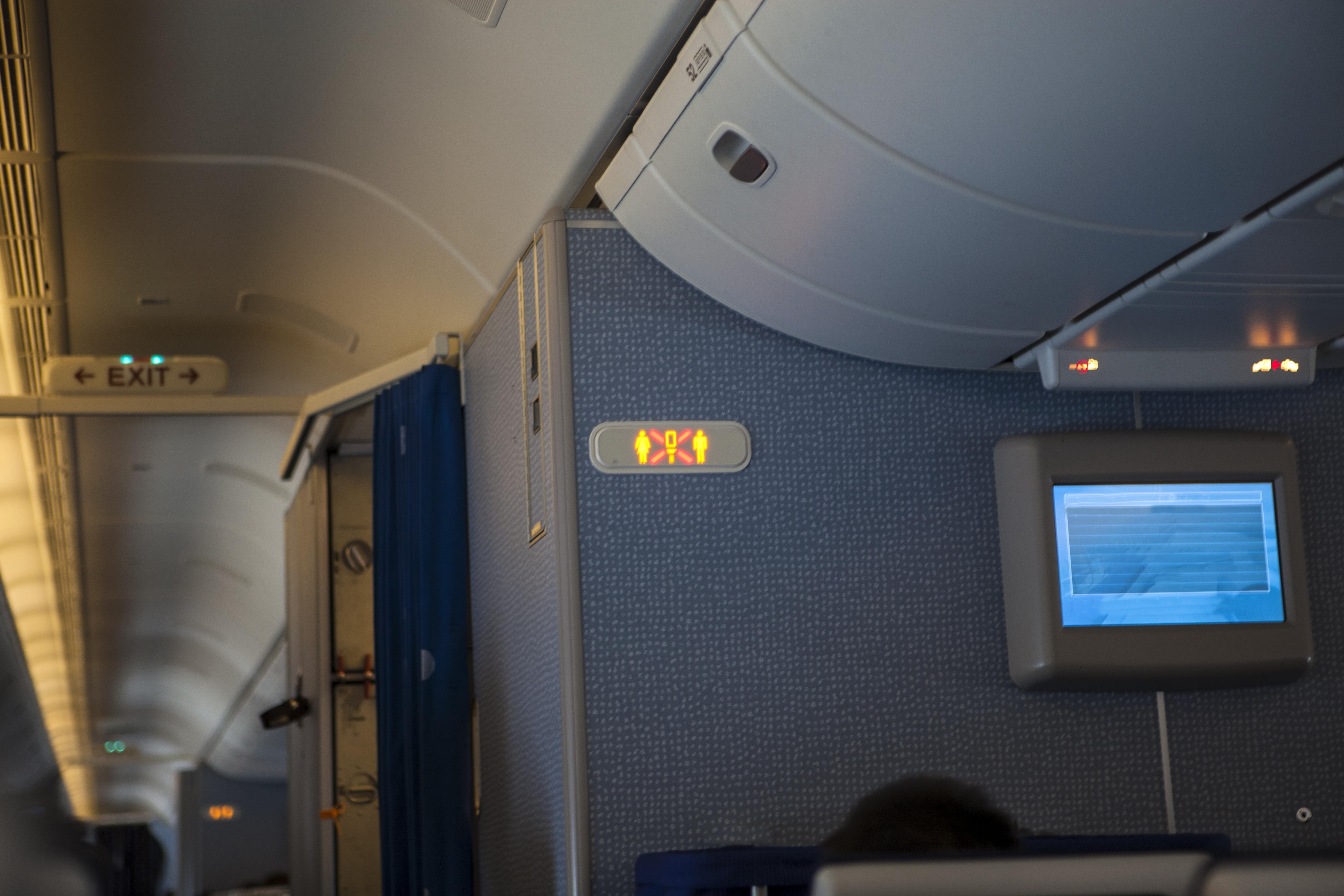 Interior of plane