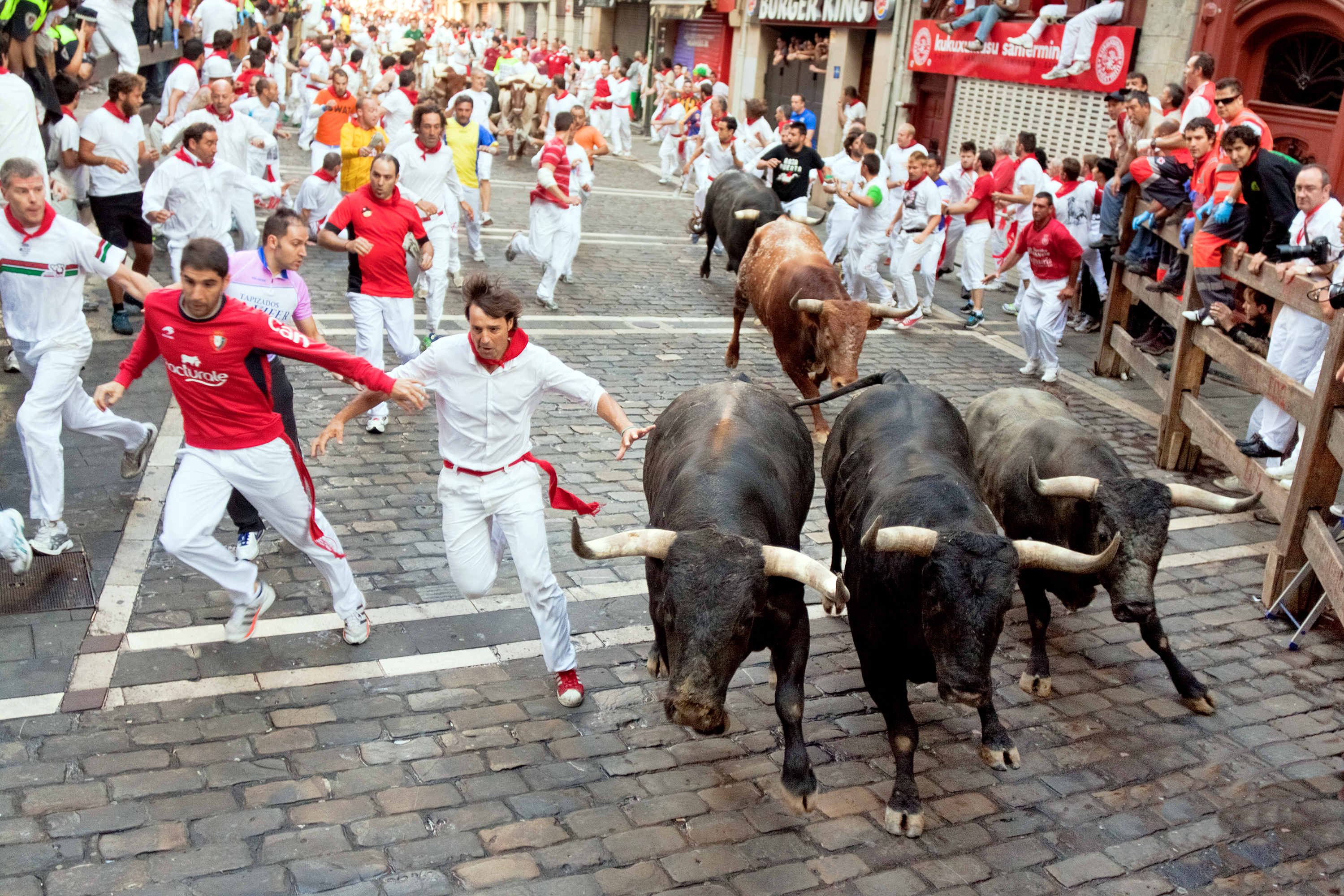 At festival of San Fermin. Pamplona