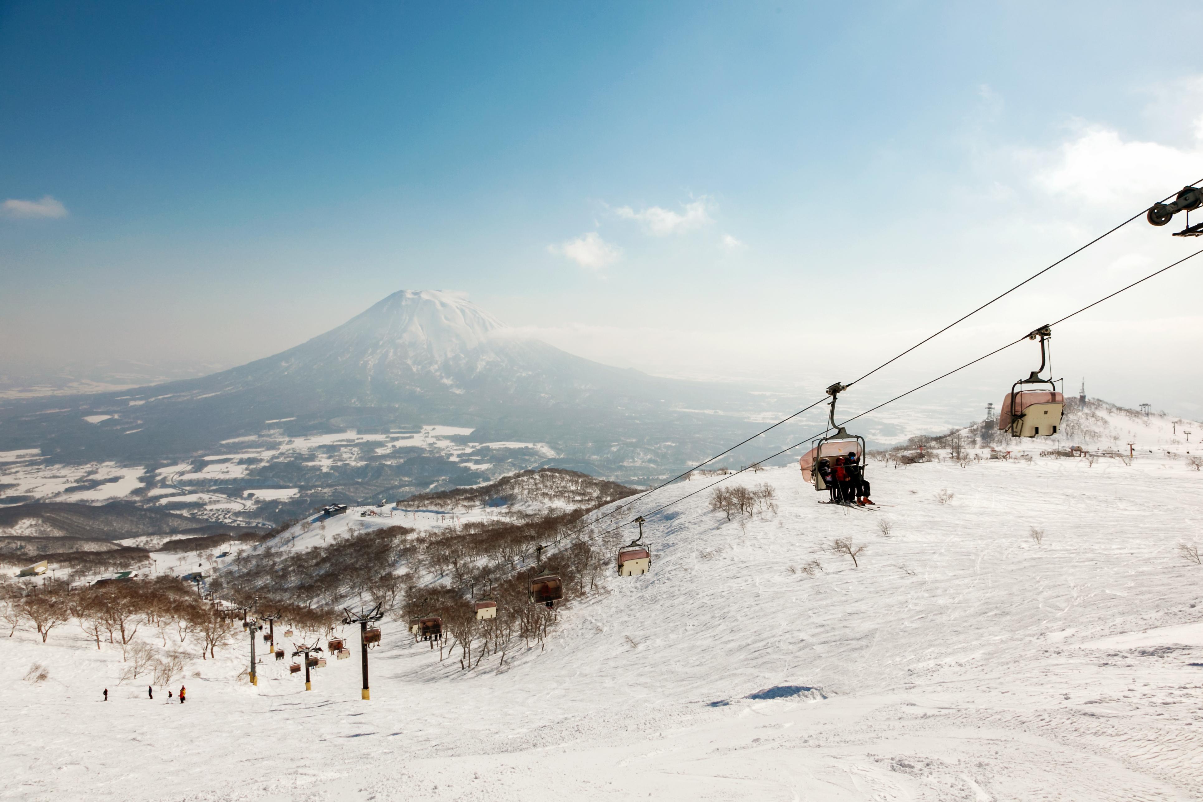 Ski Lift, Niseko Village Ski Resort, Hokkaido, Japan