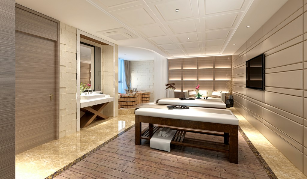 3D Render of luxury massage room