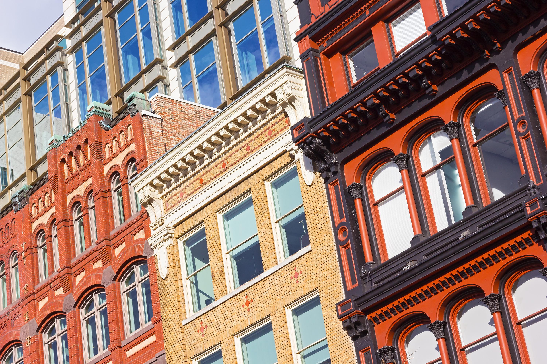 Architectural elements of Washington DC buildings.