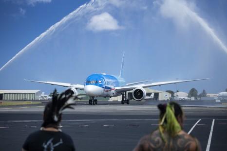 Air Tahiti Nui Dreamliner arrives in Papeete