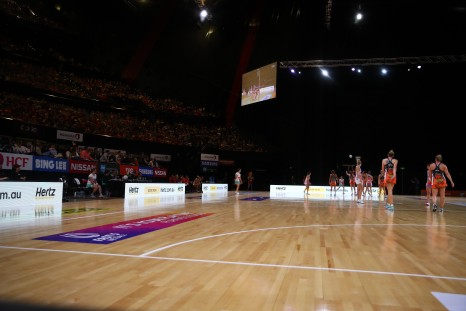 SYDNEY, AUSTRALIA - JULY 08: during the round 10 Super Netball match between the Giants and the Swifts at International Convention Centre on July 8, 2018 in Sydney, Australia. (Photo by Mark Kolbe/Getty Images)