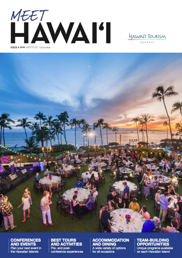 2019 Meet Hawaii Guise released by Hawaii Tourism Oceania