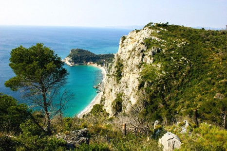 The blue waters of the Mediterranean