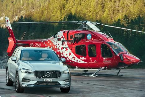 Hertz - Air Zermatt partnership - Heli and Volvo